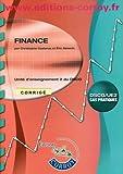 Finance UE2 du DSCG - Corrigé
