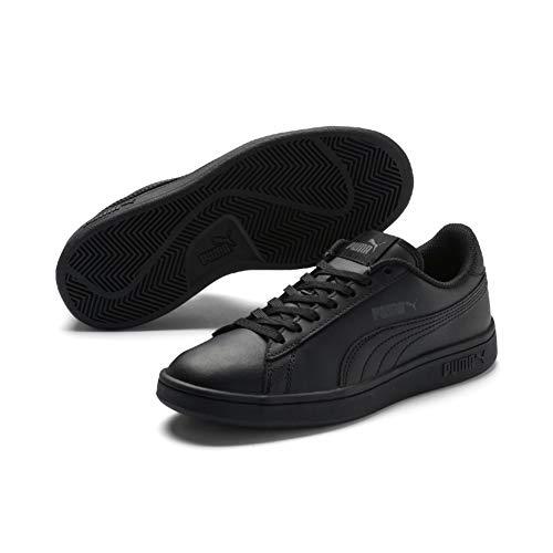 Puma Unisex-Kinder Smash V2 L Jr Sneaker, Schwarz (Puma Black-Puma Black), 35.5 EU
