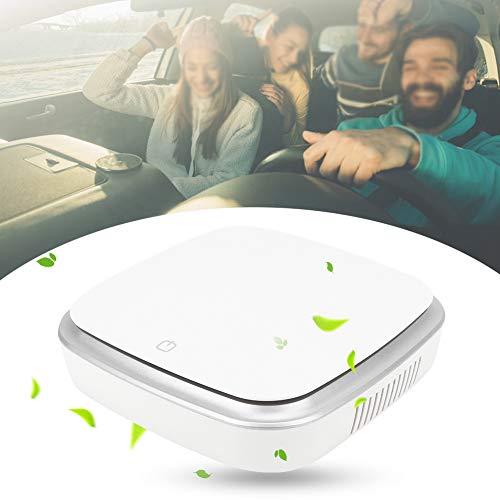 Draagbare auto luchtreiniger, auto negatieve ionen luchtreiniger ionisator luchtverfrisser voor auto, USB opladen compacte luchtreiniger verwijderen stof rook geuren PM2.5