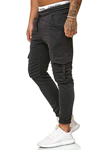OneRedox Herren Jogging Hose Jogger Streetwear Sporthose Modell 1214 Antra XXL