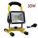30W LED Work Lights Rechargeable Floodlight, Waterproof Portable Floodlight Emergency Work Job Site