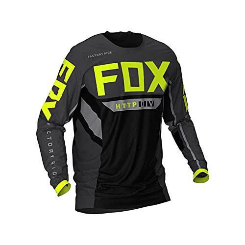 Yutich Herren Downhill-Trikot Hpit Fox MTB Hemden MTB Offroad DH Motorrad Trikot Motocross Sportbekleidung, A., XL