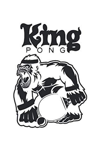 Ping Pong: Din A5 King Pong Notizbuch Tischtennis Geschenk mit 120 Seiten