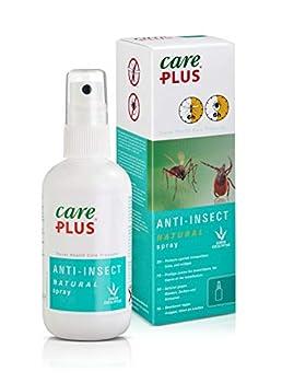 Care Plus Spray Anti-Insectes, À Base d?Huile d?Eucalyptus Citriodiol, Pour Toutes les Destinations, 6h de Protection, Pour 2 Personnes, 100 ml