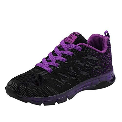 JiaMeng Flying Woven Shoes Air Cushion Sneakers Student Net Zapatos para Correr...