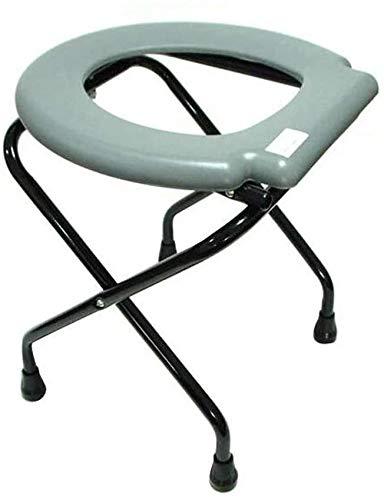 Miwaimao - Silla de inodoro plegable, silla de baño portátil, taburete para embarazadas, ancianos y personas con discapacidad