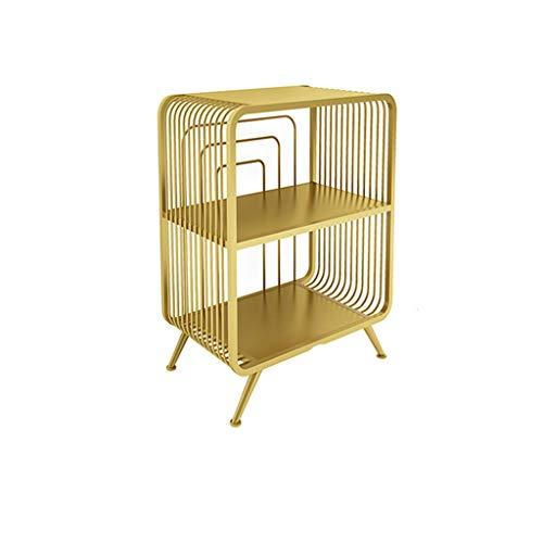 Perfect Furniture CSQ Metal Storage Table, Multilayer Creative Side Table for Living Room Bedroom Corridor Corner Table Bathroom Storage Rack (Color : Gold, Size : 413065CM)