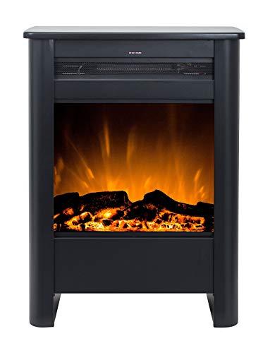 Noble Flame Glasgow – klassischer Elektrokamin Standkamin Kaminofen – modernes LED Feuerambiente inkl. Heizfunktion – Feuerraum 46 cm