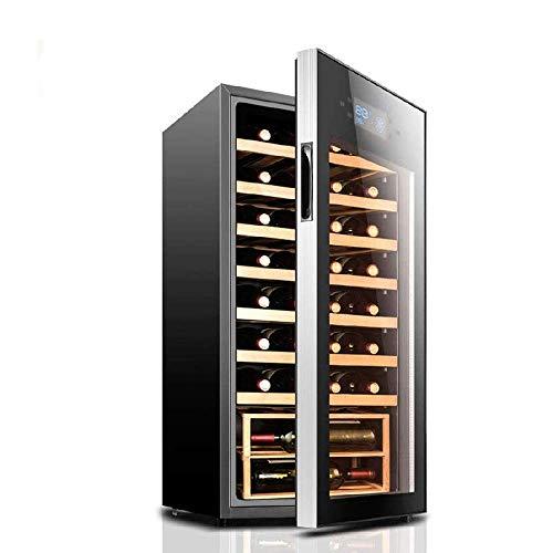 Enfriador de Vino para el hogar, Enfriador de Vino Tinto/Blanco Independiente, Control táctil/Vidrio Templado Doble/refrigerador de Funcionamiento silencioso