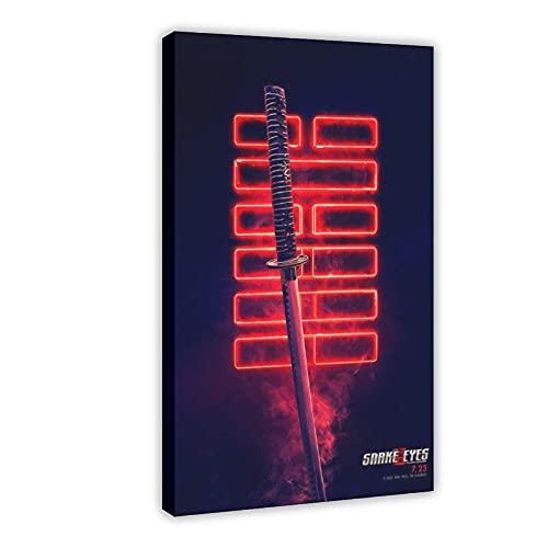 Action Movie Snake Eyes G.I. Joe Origins 3 poster su tela, decorazione da parete per soggiorno, camera da letto, 60 x 90 cm