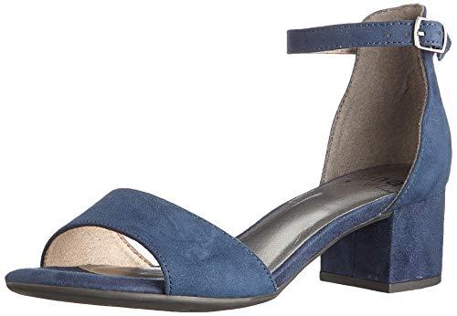 Jana Softline Damen 8-8-28360-26 805 Sandale mit Absatz, Blau, 39 EU