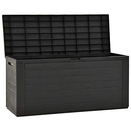 Festnight Abschließbar Gartenbox Anthrazit 116x44x55 cm Auflagenbox Gartentruhe Kissenbox Truhe Aufbewahrungsbox Gartenmöbel Garten Box Kissentruhe Auflagenkiste Polypropylen