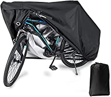 BLOODYRIPPA Waterproof Bike Cover with Lock Holes for Outdoor Bicycle Storage, 210T Polyester Taffeta Fabric, PU...