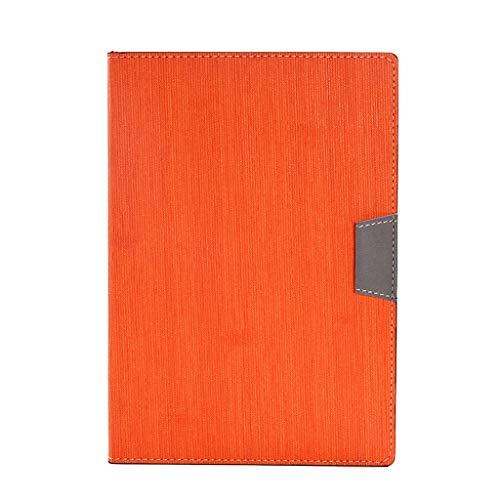 Cuadernos de taquigrafía Creative Business Notebook/Buckle A5 Thick Notebook/Business Logo Personalizado/Notebook Gift Set Cuaderno de Tapa Dura (Color : Orange, tamaño : Standard Edition)