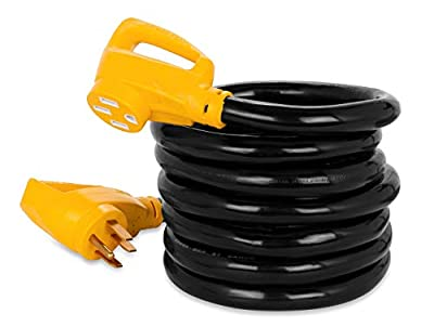 Camco 15' PowerGrip Heavy-Duty Outdoor 50-Amp Extension Cord for RV and Auto