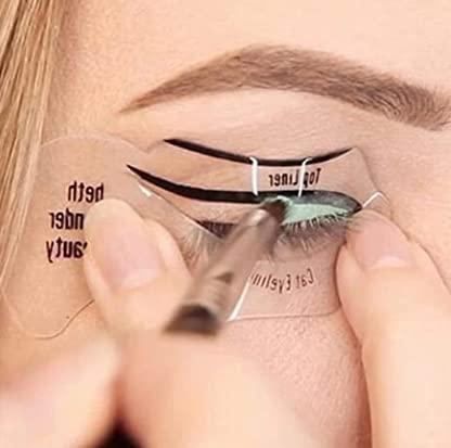 20 Piezas delineador de Ojos Plantillas Delineador Plantillas de Maquillaje para Ojos Herramienta de Plantilla Delineador de Ojos