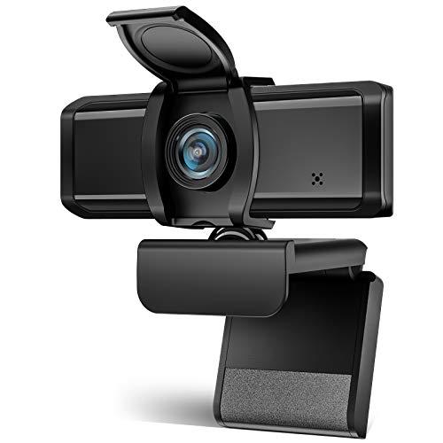 Wansview Webcam PC 1080P Full HD avec Microphone, Webcam USB 2.0 Plug & Play pour Diffusion en Direct, Conférence, Études en Ligne, Jeux