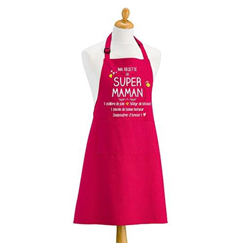 T&B MAISON Tablier Ma recette de super maman