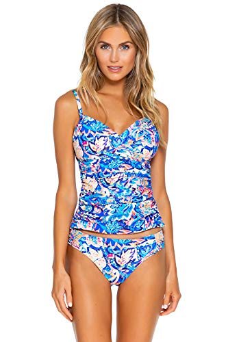 Sunsets Women's Simone Convertible Strap Tankini Top Swimsuit, Gypsy Breeze, DD Cup