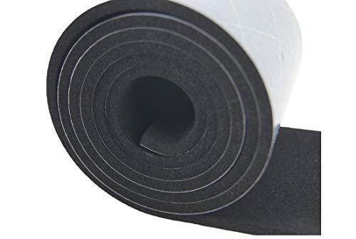 Moosgummi selbstklebend Meterware bis 10m Klebeschicht Gummistreifen Zellkautschuk EPDM (1000x80x5mm)