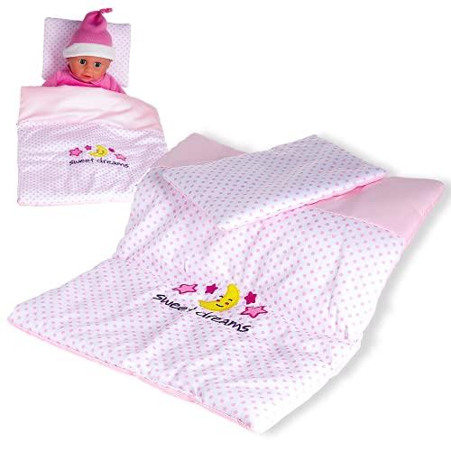Smart Planet Baby Rose Puppen Decke und Kissen-Set für Kinder zum Spielen Baby Puppe