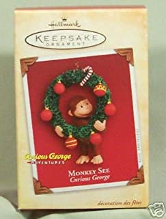 Hallmark Keepsake Curious George Monkey See Ornament