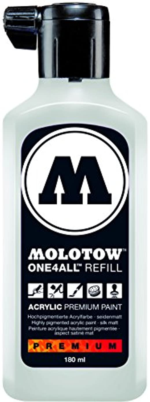 Molotow ONE4ALL Acrylic Paint Refill, For Molotow ONE4ALL Paint Marker, Signal White, 180ml Bottle, 1 Each (692.160)