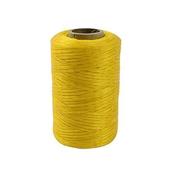 Treasure Gurus 1 Roll Yellow Sinew Waxed Beading Craft Poly Wax Thread Artificial Deer Sinue