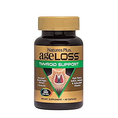 Nature's Plus AgeLoss Thyroid Support - Vegetarian Capsules 60 - Gluten Free