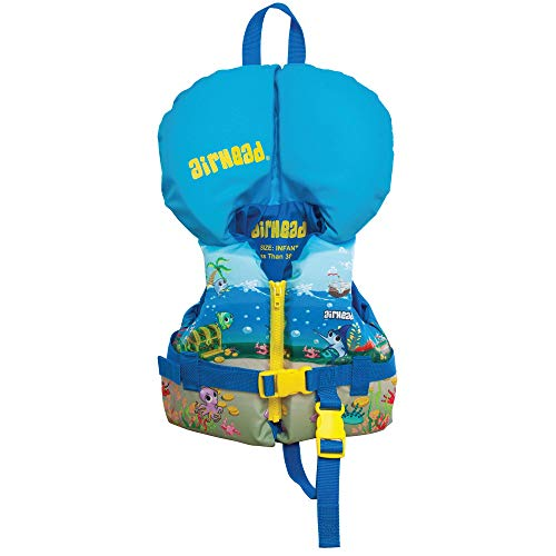 Airhead Infant's Treasure Life Vest, Blue, Model Number: 10088-01-A