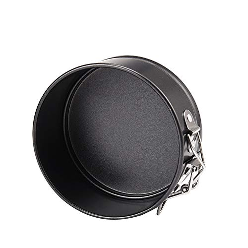 cinsey Mini Round Kuchenform Cake Tin Antihaft-Springform Backform Mit Schloss, Antihaftbeschichtung, Einfach zu säubern, Abnehmbarer Boden, Durchmesser: 11cm (Schwarz)