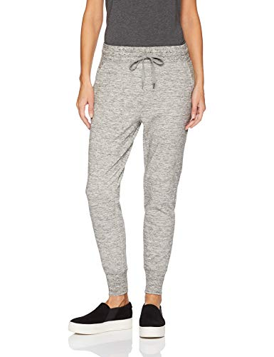 Amazon Brand - Daily Ritual Women's Relaxed Fit Terry Cotton and Modal Jogger, Heather Space Dye, Small