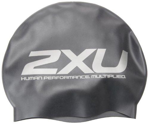 2XU Unisec Silikon-Badekappe, Schwarz, Einheitsgröße