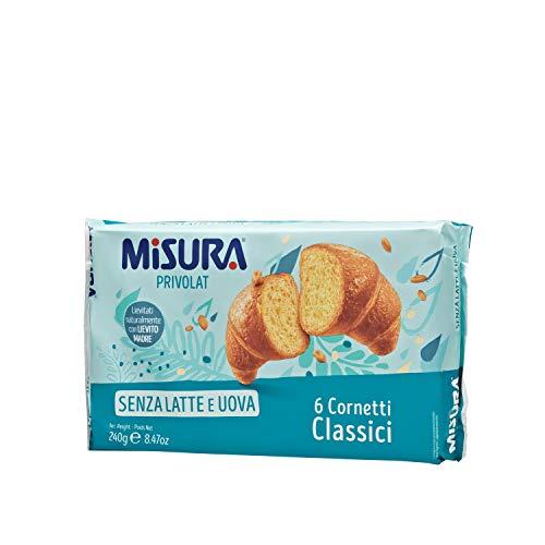 Misura Cornetti Classici Privolat | Senza Latte e Uova | 4 Confezioni da 240 grammi