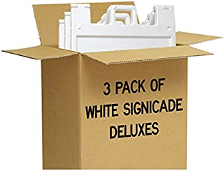 3 Pack of White Signicade Deluxes