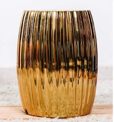 GYXZM Taburete De Jardín Taburete De Ceramica para Salón O Jardin - Mesa De Ceramica Color Dorado