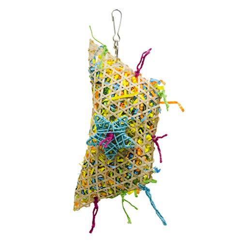 Suministros para mascotas- Colorido tejido de algodón cuerda columpio loro, pájaros juguetes para masticar cacatúa juguetes de jaula de pájaros accesorios para mascotas juguetes...