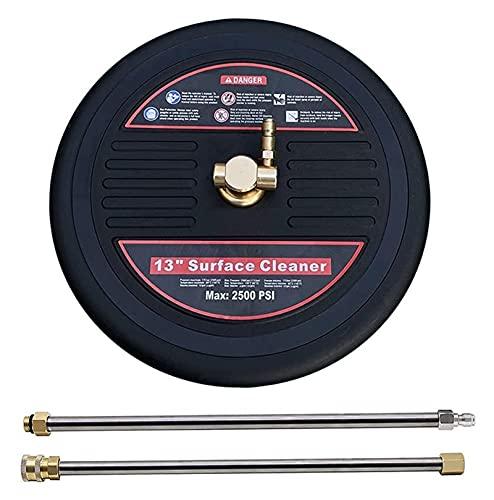 Hochdruckreiniger, Reinigerzubehör, 13-Zoll-Hochdruckreiniger-Oberflächenreinigerzubehör mit 2 Verlängerungsstangen für elektrische Waschmaschinen, 2500 Psi, für das Waschen von Terrassendecks