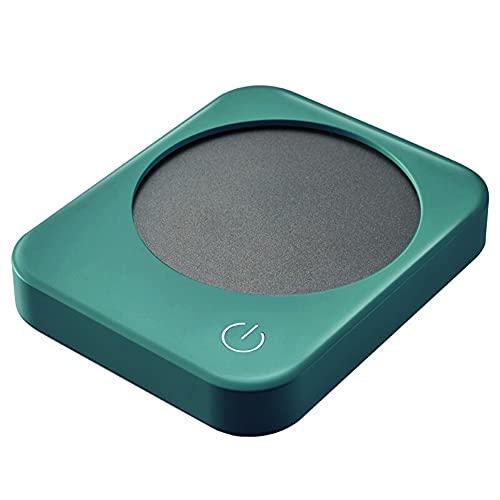 SVNA Mini Calentador de Tazas Ajuste de Temperatura de 3 velocidades Calentamiento rápido de un Toque Luz LED de respiración Té Agua y Leche Posavasos de Aislamiento (Color : Green)