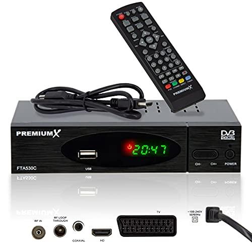 PremiumX Kabel Receiver DVB-C FTA 530C...