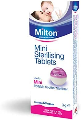 Milton Mini Tabletas Esterilizadoras - Pastillas para esterilizar y desinfectar la Copa Menstrual Sileu - Ideales para usar con el Esterilizador ...