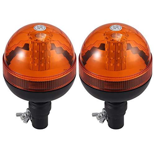 AUTOUTLET 2X Rundumleuchte, 40 SMD LED Rundumkennleuchte mit 3 Beleuchtungsmodi, Wasserdicht und staubdicht, Lichtscheibenfarbe: orange