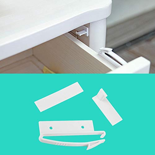 FTFSY 4Pc/lot Invisible Baby Safety Lock Child Safety Drawer Lock Latches Infant Security Protection from Children Locks Drawer Latch