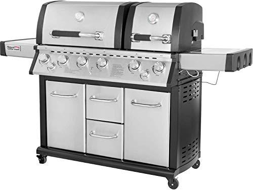 Royal Gourmet Mirage MG6001-R Two Split Lid 6-Burner Cabinet Propane Infrared Burner Gas Grill, Side Burner, 96,000 BTU,Stainless Steel