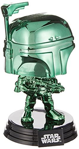 POP Funko Disney: Star Wars - Boba Fett (cromo verde) Convención de verano, exclusivo de Amazon