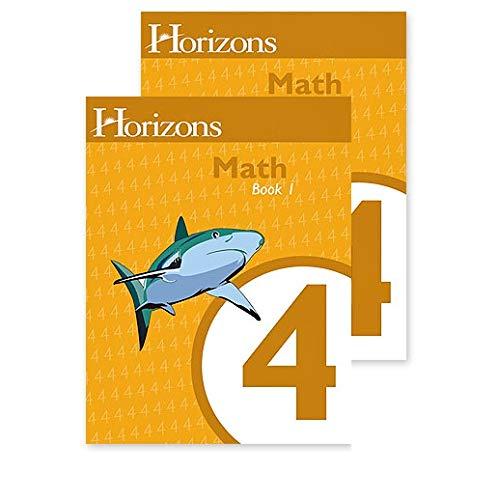 Horizons Math 4 SET of 2 Student Workbooks 4-1 and 4-2