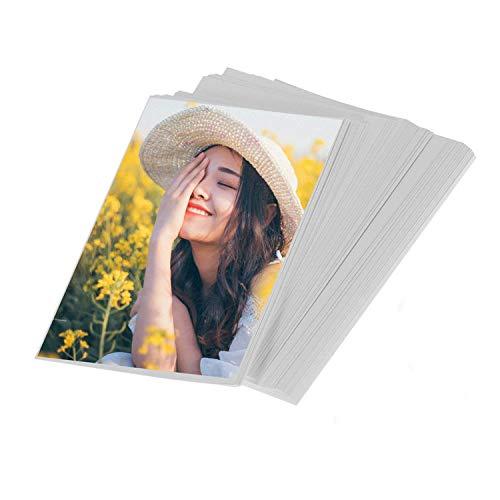 100 hojas 4x6in Papel fotográfico para impresión láser a ambos lados, adecuado para imprimir fotos/invitaciones/tarjetas postales/tarjetas de índice/cartulina/stock de portadas