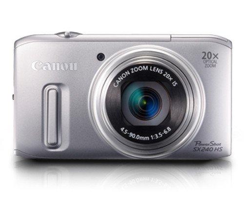 Canon PowerShot SX 240 HS Digitalkamera (12,1 MP, 20-fach opt. Zoom, 7,6cm (3 Zoll) Display, bildstabilisiert) silber