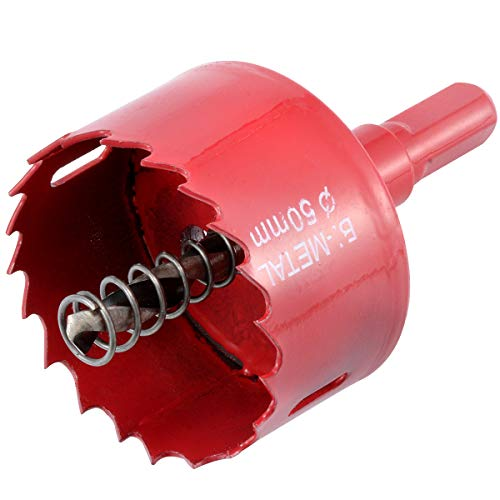 KATUR 50mm Speed Bi-Metal Hole Saw, Cornhole Board Drill Bit with Positive Rake Teeth for Soft Metal, Drywall, Plastic, Wood, Fiberboard