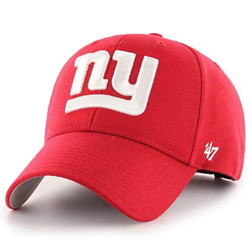 New York Giants MVP Basic Red White NY Logo Hat Cap Adult Men's Adjustable
